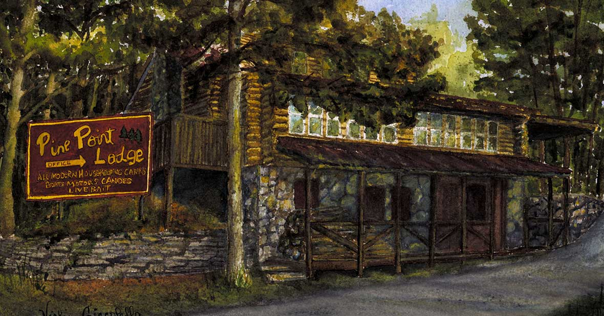 Pine Point Lodge painting