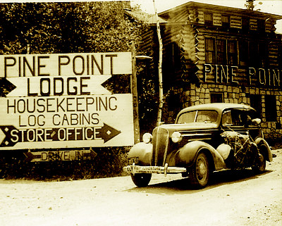 Old Pine Point Lodge Sign