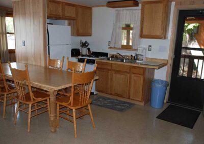 Pine Point Lodge Cabin 10 Kitchen