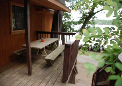Pine Point Lodge Cabin 12 Deck