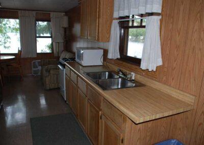 Pine Point Lodge Cabin 12 Kitchen