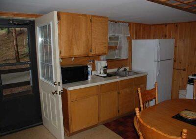 Pine Point Lodge Cabin 6 kitchen