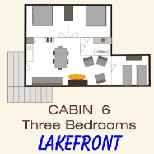 Pine Point Lodge Cabin 6 Floorplan