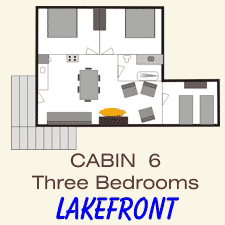 Pine Point Lodge Cabin 6 layout