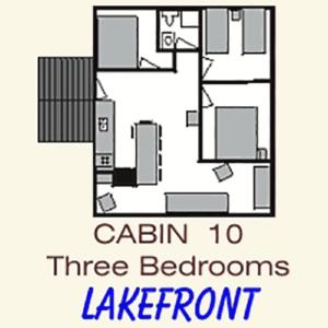 Pine Point Lodge Cabin 10 floorplan