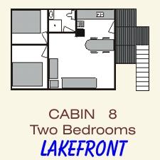 Pine Point Lodge Cabin 8 floorplan