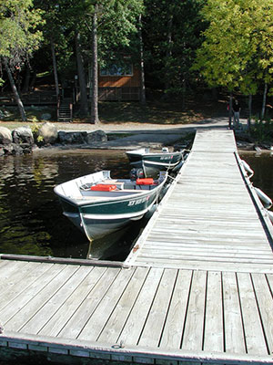 Dock at Pine Point Lodge, Ely, MN